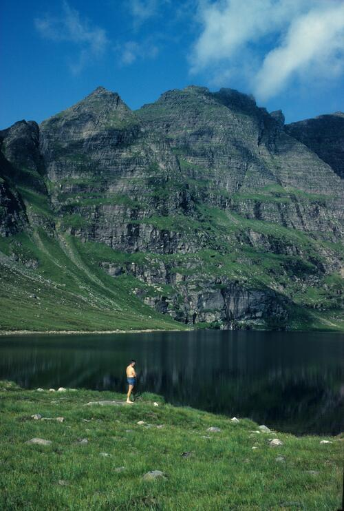 Toll an Lochain, An Teallach - Bathing in the loch.