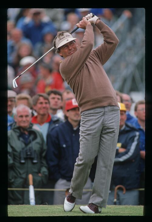 American Lanny Wadkins shows form at the 1988 Open Championship at Royal Lytham and St Annes