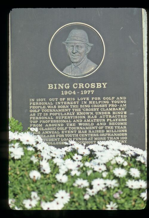 Memorial stone to Bing Crosby