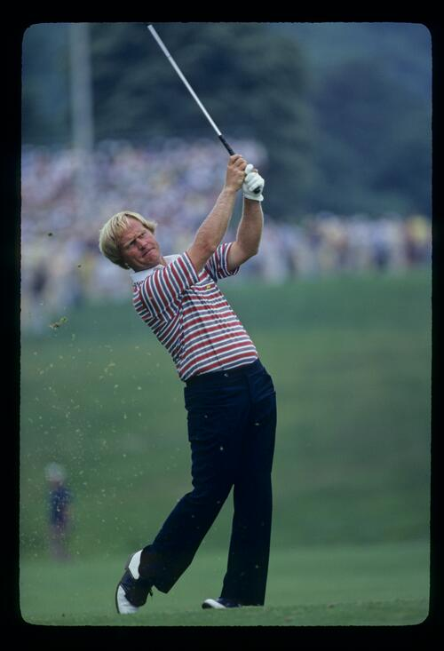 Perfect extension from Jack Nicklaus during the 1981 US Open