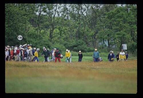 Jack Nicklaus and Ray Floyd during the 1986 US Open