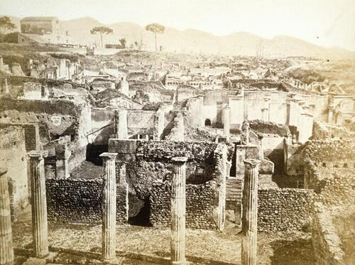 Recent excavations, Pompeii.