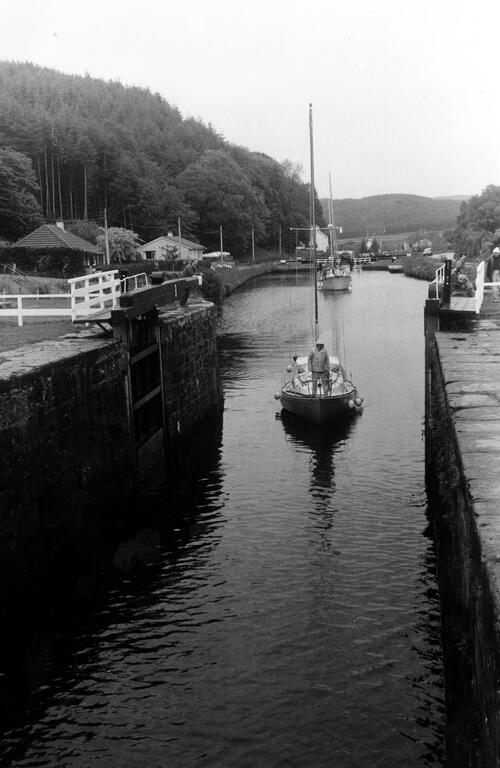 Lock 8 on Crinan Canal.