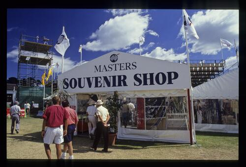 Tented village at the 1990 Australian Masters