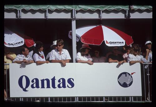 A sponsor's hospitality area at the 1990 Australian Masters