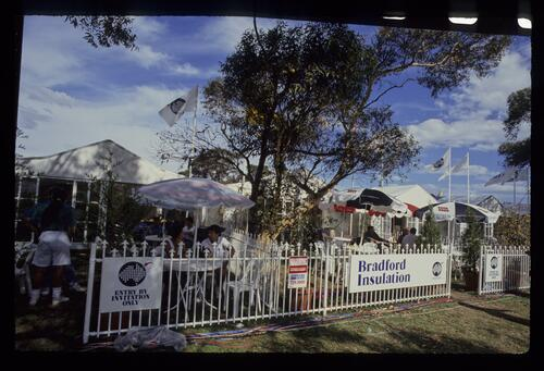 Sponsors' hospitality areas during the 1990 Australian Masters