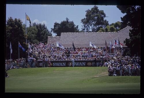 The first tee at Huntingdale during the 1990 Australian Masters