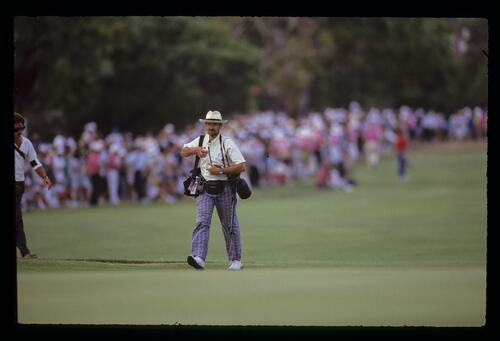 A photographer during the 1990 Australian Masters
