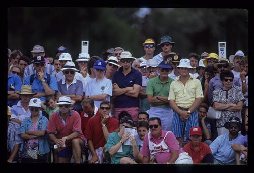 Expectant spectators during the 1990 Australian Masters