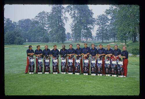The 1985 US Ryder Cup team is presented at The Belfry