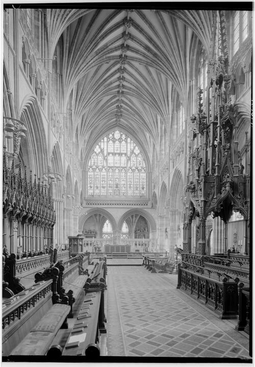 The Quire, Exeter Cathedral.