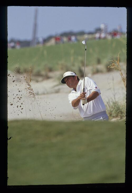 Raymond Floyd using sand wedge to escape the waste at the 1991 Ryder Cup