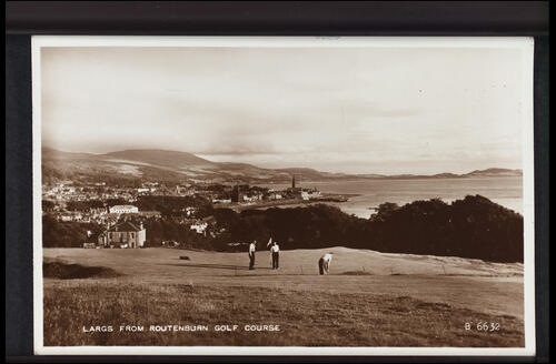 Largs from Routenburn Golf Course.
