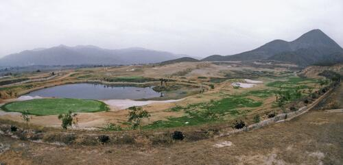 Construction of the first golf course in modern China at Chung Shan Hot Spring Golf Club
