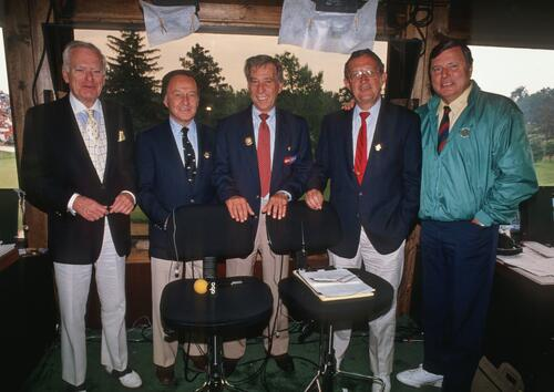 The ABC Golf Sportscasting Team at the 1989 U. S. Open Championship