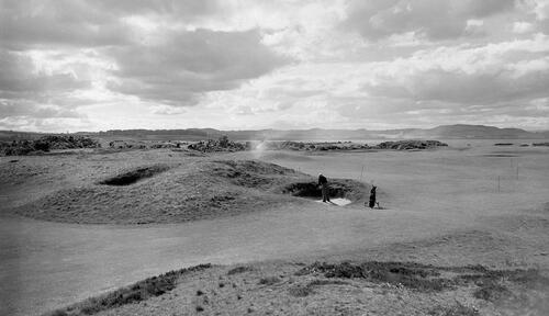 Bunkered,Old Course, St Andrews.