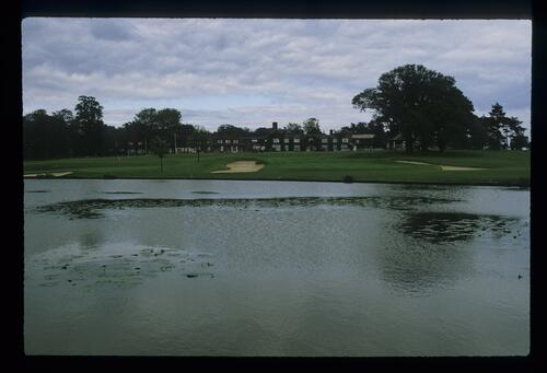 The lake, the ninth, the 18th and the Clubhouse at The Belfry