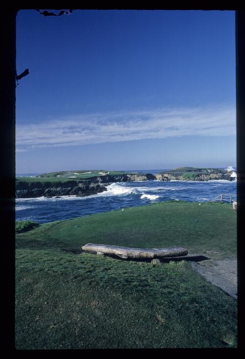 The dramatic 16th hole over the Pacific Ocean at Cypress Point