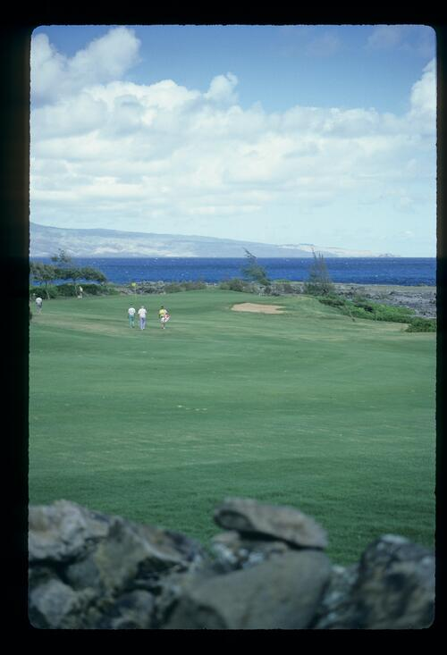 The dramatic volcanic nature of Kapalua Golf Resort
