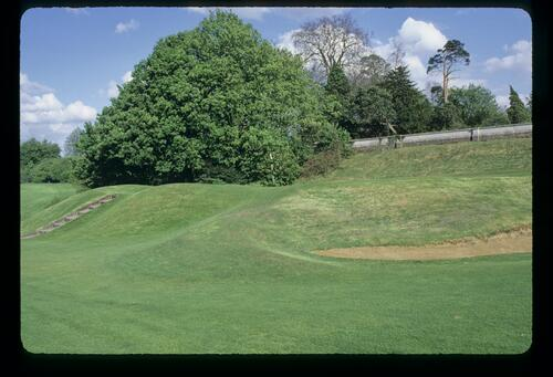 The par-three 13th hole on the Moor Park West Course