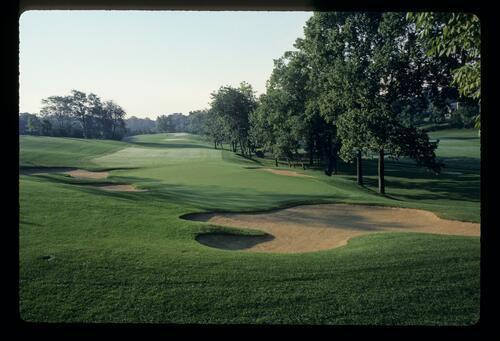 The fourth hole at the Jack Nicklaus designed Muirfield Village
