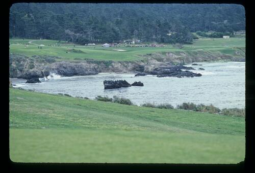 The dramatic and unmistakeable cliff top situation of Pebble Beach