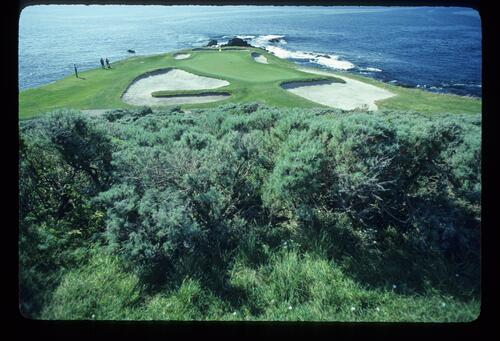 The unmistakeable seventh green at Pebble Beach