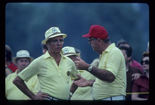 Officials in action during the 1981 US Open
