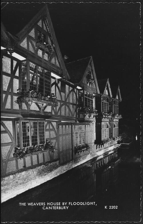 The Weavers House by Floodlight, Canterbury.