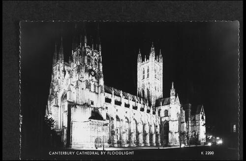 Canterbury Cathedral by Floodlight.