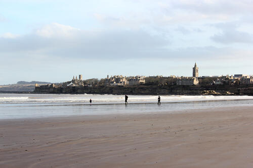 St Andrews town from West Sands
