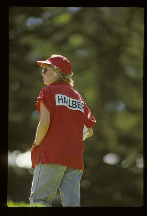 Gary Hallberg's caddie during the 1987 US Open