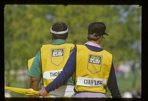Caddies at the 1987 Hertz Bay Hill Classic