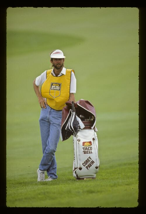 Corey Pavin's caddie at the 1987 Hertz Bay Hill Classic