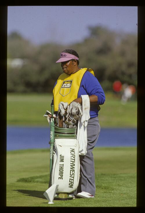 Jim Thorpe's caddie at the 1987 Hertz Bay Hill Classic