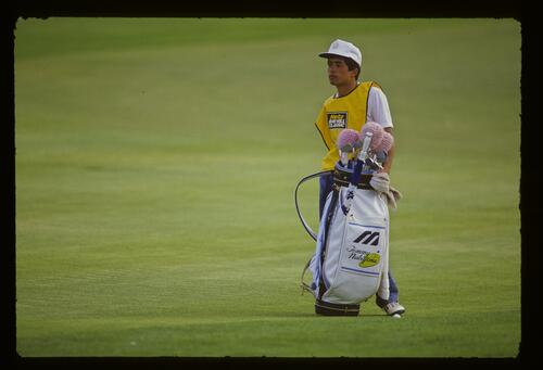 Tommy Nakajima's caddie at the 1987 Hertz Bay Hill Classic