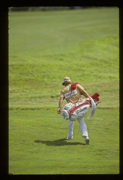 Don Pooley's caddie during the 1987 USPGA