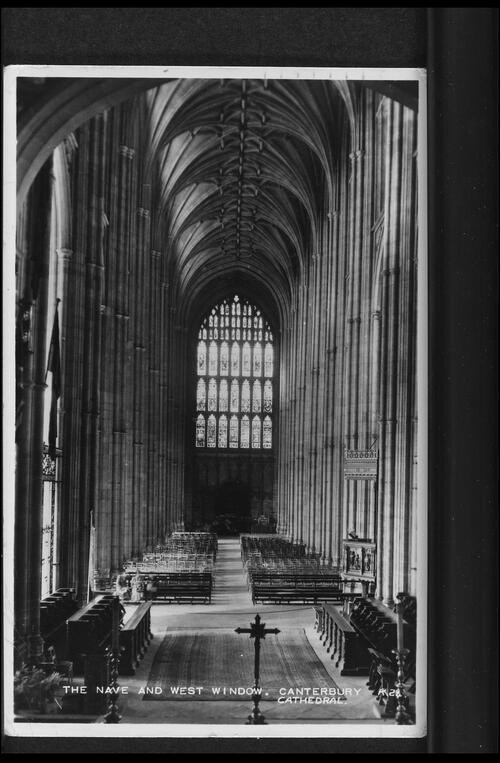 The Nave and West Window, Canterbury Cathedral