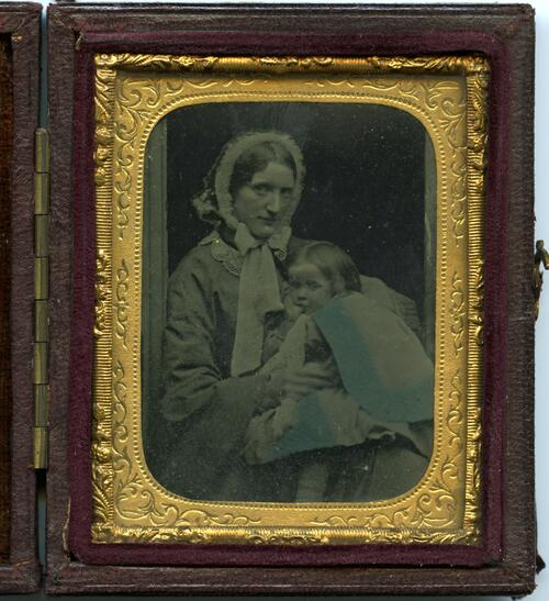 [Mrs Catherine Brewster and child]