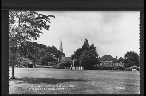 The Green showing War Memorial and Parish Church, Crowborough