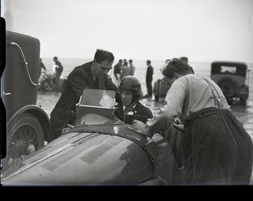 Lothian Club Car Racing on the West Sands, St Andrews.