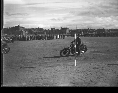Motorcycle speed races on the West Sands, St Andrews.