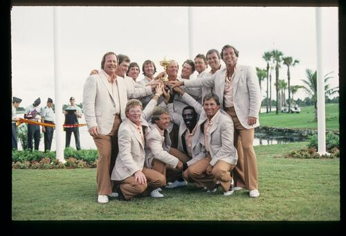 The victorious 1983 US Ryder Cup team