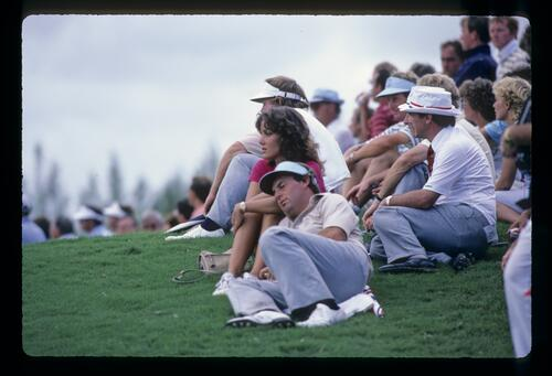 Lanny Wadkins takes time out at the 1983 Ryder Cup