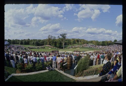 The opening ceremony of the 1987 Ryder Cup