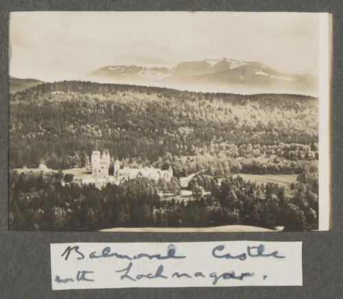 Balmoral Castle with Lochnagar