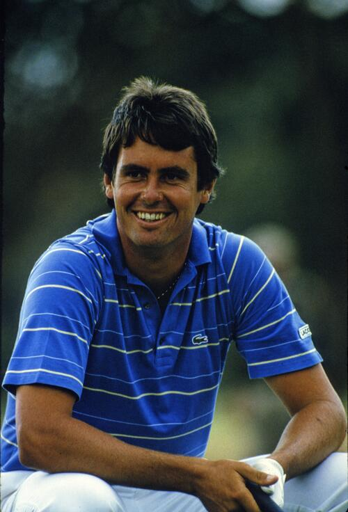Ian Baker Finch looking relaxed during the 1986 Australian Masters
