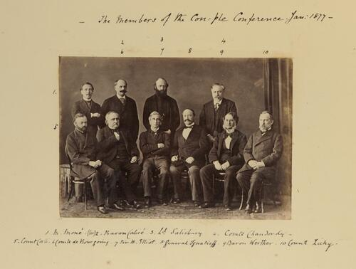 Members of the Con:ple Conference. Jan: 1877