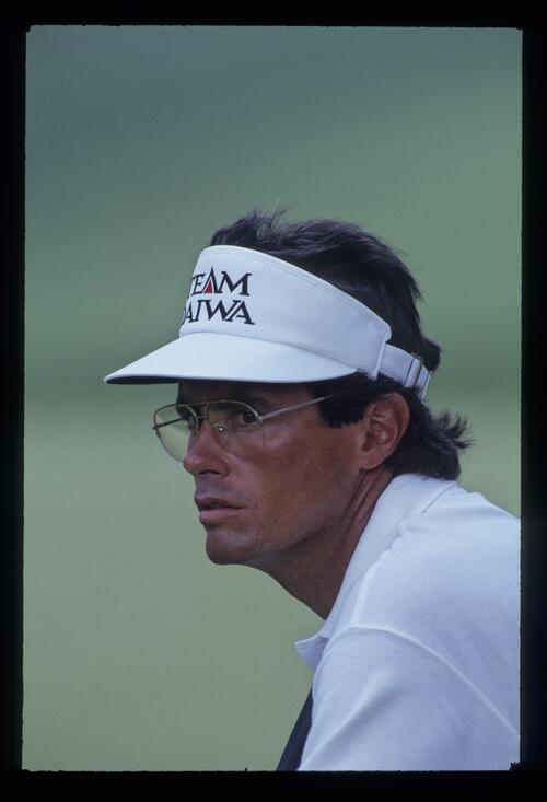 Ian Baker Finch looking thoughtful during the 1993 US Open