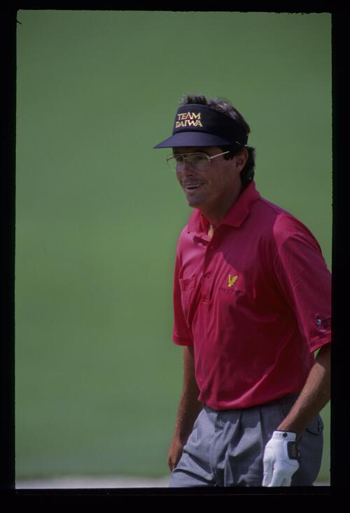 Ian Baker Finch smiling during the 1992 Masters